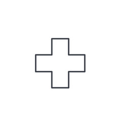First aid pharmacy medical cross thin line icon vector