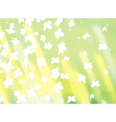 Nature sunshine background vector