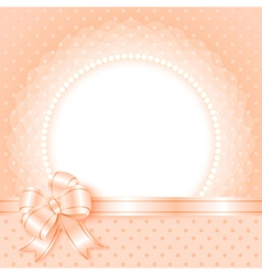 Elegant frame with beads and bow vector