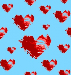 hearts seamless pattern vector image