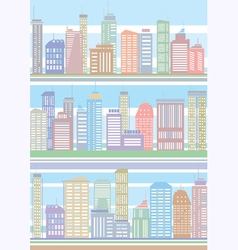 Seamless buildings pattern vector