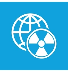 Global radiation icon simple vector