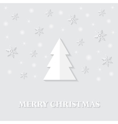 Greeting card with a merry christmas vector