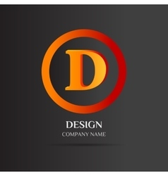 D letter logo abstract design vector
