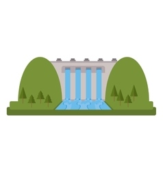 Hydroelectric plant icon vector