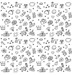 Greeting wishes icons seamless black and white vector