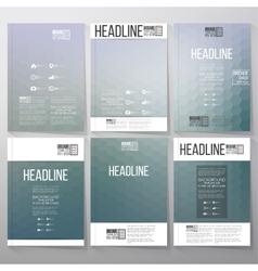 Abstract blurred hexagonal backgrounds Brochure vector image