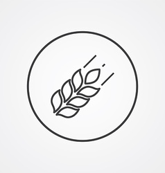 Agriculture outline symbol dark on white vector image