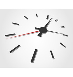 arrows of hours on a grey background a vector illu vector image