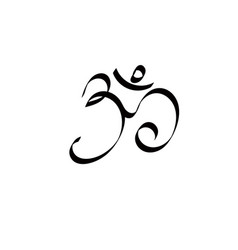 Art ohm sign om symbol yoga aum symbolizing vector