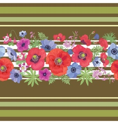 Beautiful Flower Seamless Pattern with Poppy vector image vector image