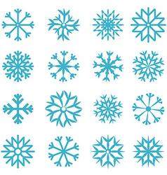 Blue Snowflakes Set vector image vector image