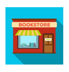Bookstore icon in flat style isolated on white vector
