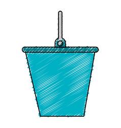 Bucket tool isolated icon vector