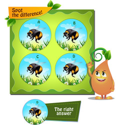 Bumblebee spot the difference vector