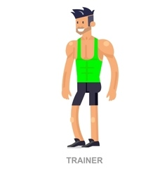 Cartoon Fitness Coach vector image