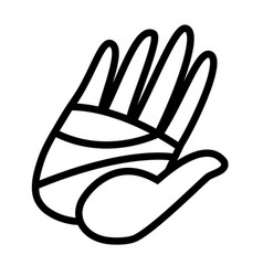 cartoon hand high five vector image vector image