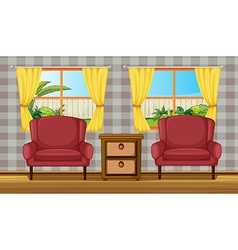 Colorful living room vector image vector image