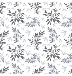 dark grey white tropical leaves summer vector image vector image