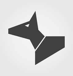 Dog in symbol style vector