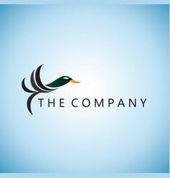Duck logo ideas design vector