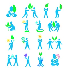 environment design elements and icons vector image vector image