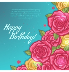 Floral decorative card with rose vector image vector image