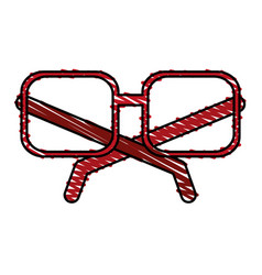 Frame glasses vector