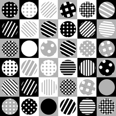 Geometric background with dotted and striped vector image vector image