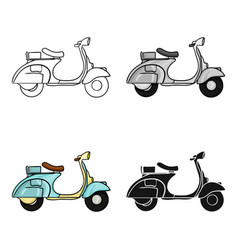 italian scooter from italy icon in cartoon style vector image