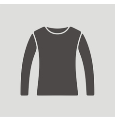 Jumper icon on background vector image vector image