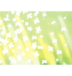 Nature sunshine background vector image