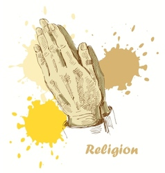 religion background vector image