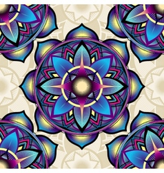 Seamless background pattern of mandala symbols vector image