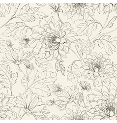 Seamless floral pattern with chrysanthemums vector image vector image