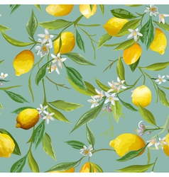Seamless Pattern Lemon Fruits Background vector image
