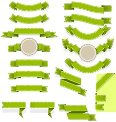 Set of empty ribbons and banners of different vector image vector image