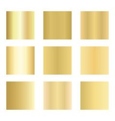 Set of gold gradients Golden backgrounds vector image vector image