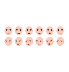 set of male emoji characters emotion icons in vector image