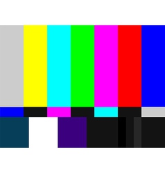 TV colored bars signal vector image