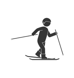 Skier sport extreme vector