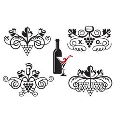 grape ornaments set vector image