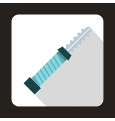 Electronic cigarette cartridge icon flat style vector