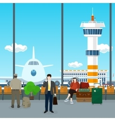 Waiting Room in Airport vector image