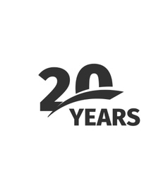 Isolated abstract black 20th anniversary logo on vector
