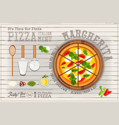 Margherita pizza vector