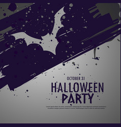 Grunge halloween party celebbration background vector