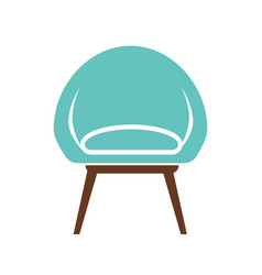 Chair icon isolated on white vector