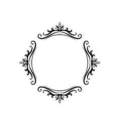 Black classic contour vintage frame vector