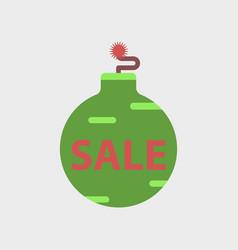Flat icon of christmas ball sale vector